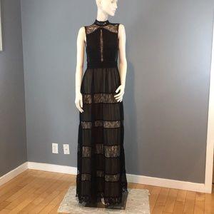 NWT Alice & Olivia Giovanna Black Lace Dress Sz 6
